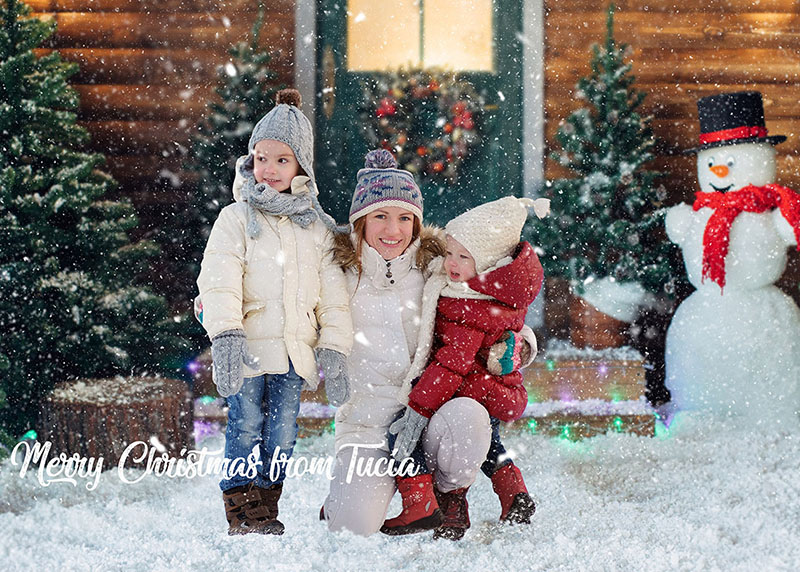 Family Christmas Card / Photo Editing Services (retouched)