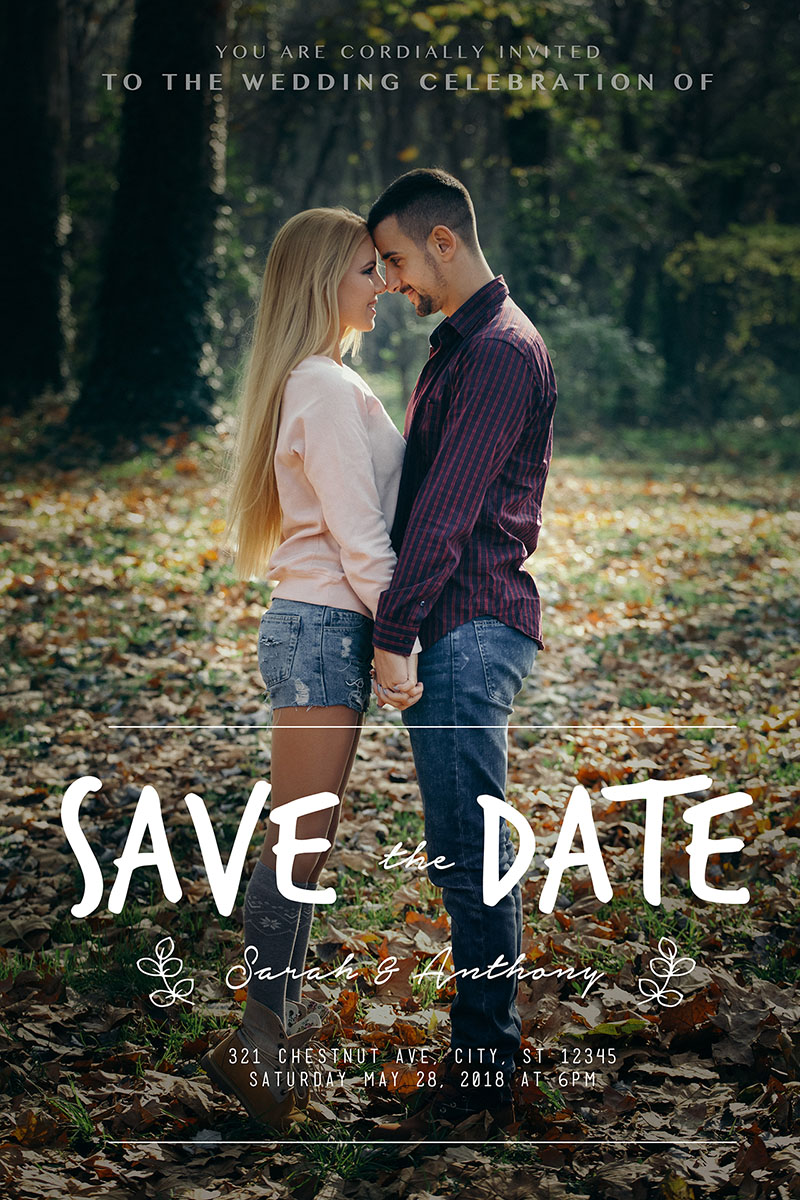 Save The Date Card Design / Photo Editing Services (retouched)