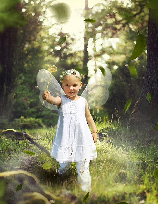 Forest Fairy Photo Manipulation / Photo Editing Services (retouched)